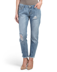 Juniors Hi Lo Rigid Jeans