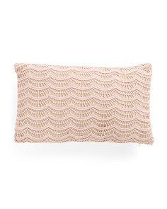 12x20 Lace Faux Linen Pillow
