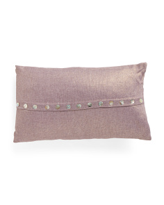 12x20 Shell Button Pillow