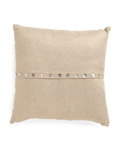 20x20 Shell Button Pillow