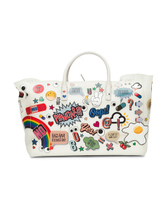 Made In Italy All Over Sticker Maxi Tote
