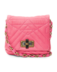 Made In Italy Quilted Mini Leather Bag