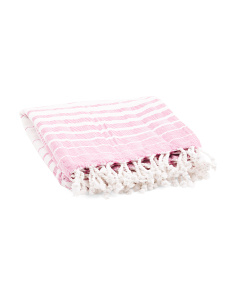 Made In India Striped Bath Towel