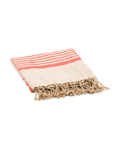 Made In India Striped Fouta Towel