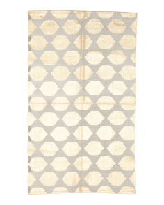Made In India 3x5 Metallic Scatter Rug