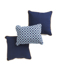 3pc Indoor Outdoor Pillow Set