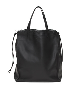 Made In Italy Medium Couisse Leather Tote
