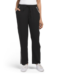 Juniors Contrast Pipe Soft Pants