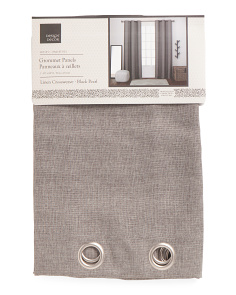 38x84 Set Of 2 Linen Crossweave Curtains
