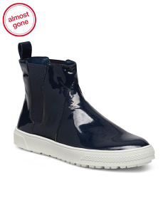 Weatherproof Patent Leather Booties
