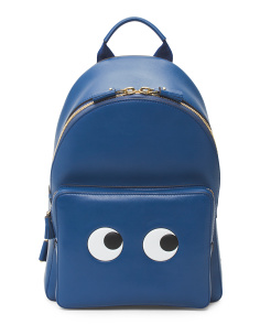 Made In Italy Mini Eyes Leather Backpack