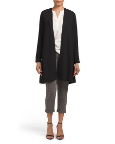 Juniors Open Drape Trench Coat