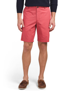 Flat Front Enzyme Washed Shorts