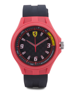 Men's Pit Crew Silicone Strap Watch