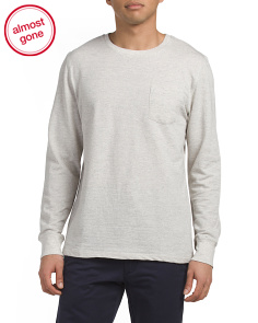 Loose Knit Terry Crew Neck Top