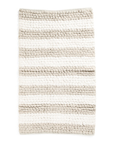 Made In India Paper Chindi Loop Accent Bath Rug