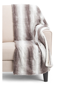 Tonal Faux Fur Throw