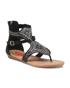 Jeweled Gladiator Sandals