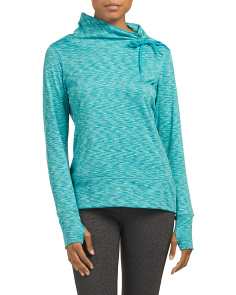 Drawstring Cowl Neck Cold Gear Top