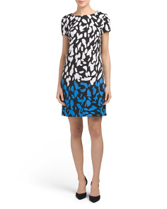 Abstract Spot Shift Dress