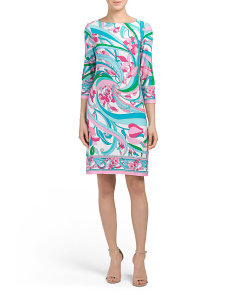 Pucci Flower Scroll Shift Dress