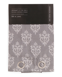38x84 Printed Medallion Set Of 2 Curtains