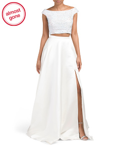 Two-Piece Off The Shoulder Ball Gown
