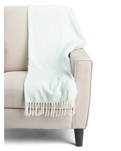 Two Tone Mohair Throw