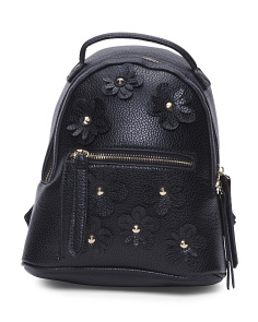 Floral Applique Mini Backpack