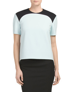 Short Sleeve Colorblock Top
