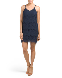 Juniors Lace Slip Dress