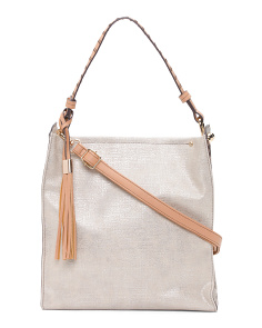 Metallic Linen Hobo