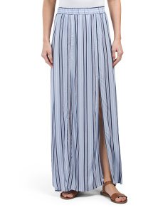 Juniors Striped Maxi Skirt