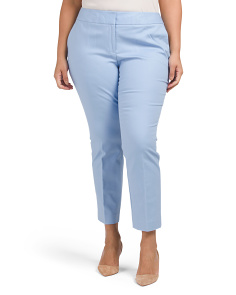 Plus Front Zip Ankle Pants