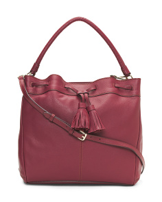 Loveth Convertible Leather Hobo
