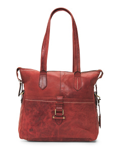 Leather Eva Satchel
