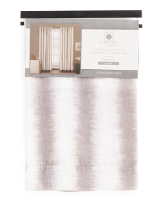38x84 Printed Linen Look Set Of Two Curtains