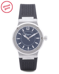 Women's Swiss Made F-80 Laser-Cut Rubber Strap Watch
