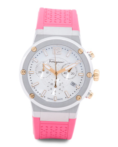 Women's Swiss Made F-80 Chronograph Rubber Strap Watch