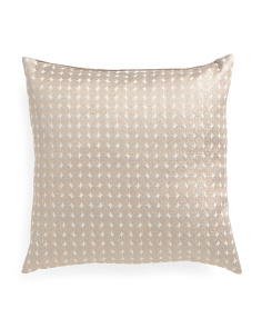 22x22 Gold Metallic Pillow