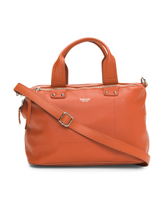 Ellen Box Leather Satchel