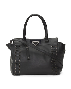 Amania Leather Satchel