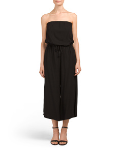 Juniors Strapless Gaucho Jumpsuit