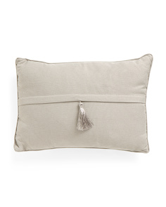 14x20 Faux Linen Tassel Pillow