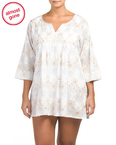 Plus Foil Butterfly Cover-Up Tunic