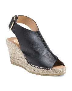 Made In Spain Hooded Espadrille Leather Sandals