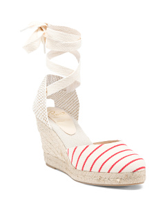 Made In Spain 2pc Stripe Marina Sandals