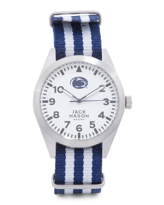 Men's Penn State Nittany Lions Striped Nato Strap Watch