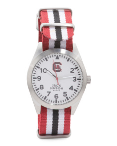 Men's South Carolina Gamecocks Striped Nato Strap Watch