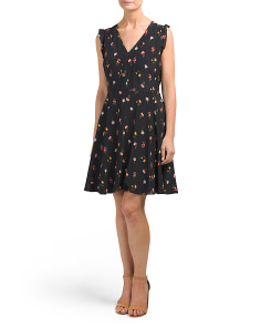 Mini Meadow Floral Print Silk Dress